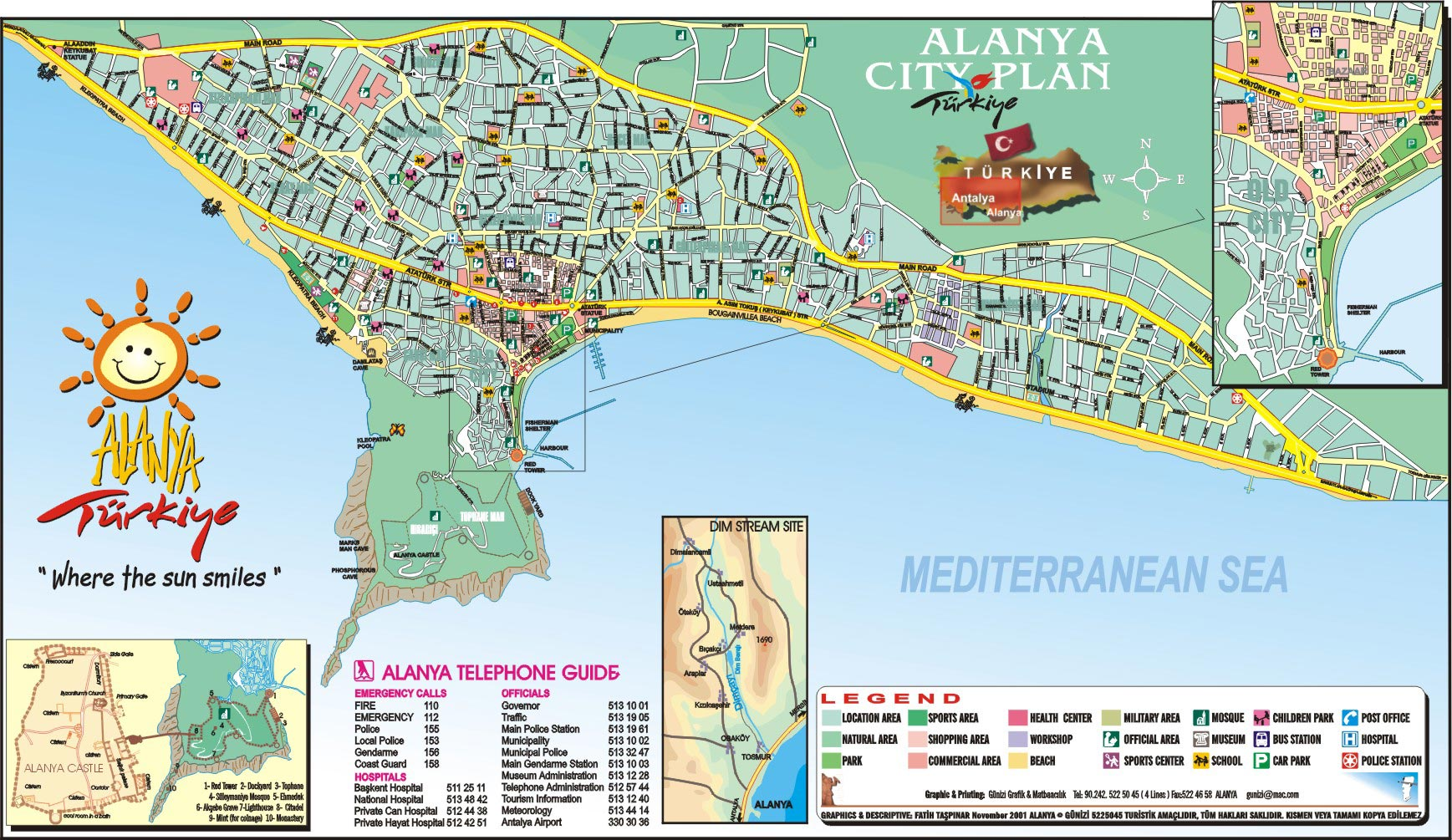 List of Synonyms and Antonyms of the Word Alanya Map