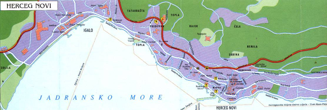 Herceg Novi Montenegro city or destination online map town maps