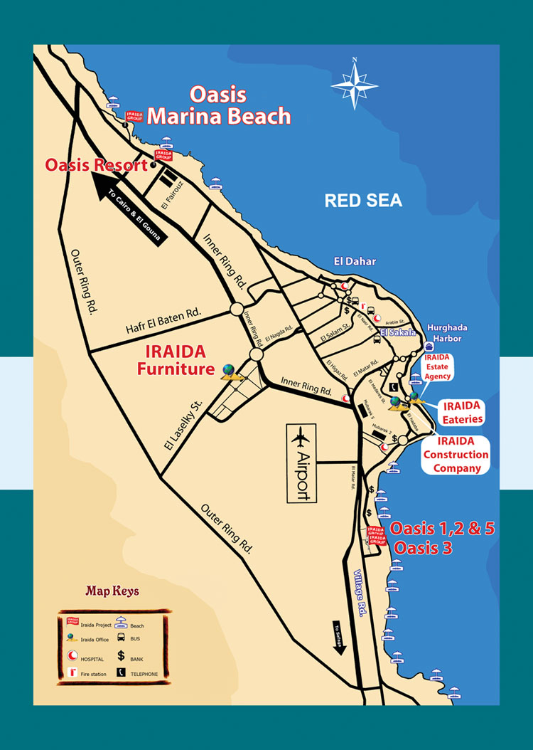 Hurghada Egypt City Or Destination Online Map Town Maps Free - Map of egypt online