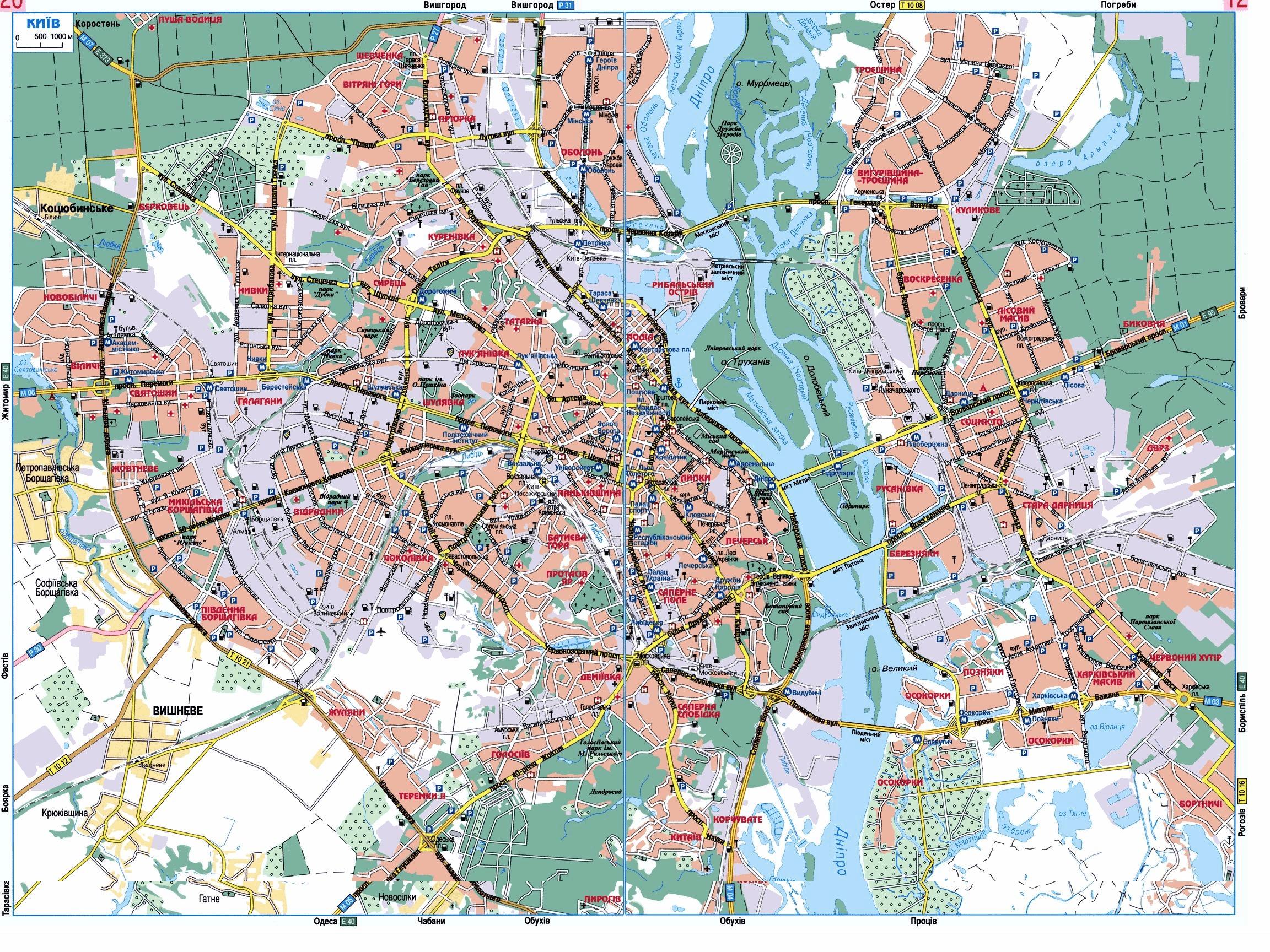 Киев, Украина - Детальная карта, схема, план с улицами и ...: http://karta.putivnyk.com/map.php?lang=ru&ind=Kyiv