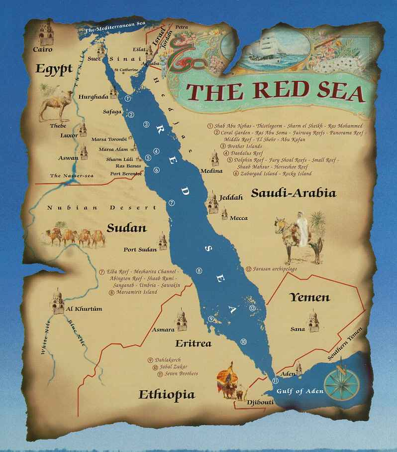 Red Sea Egypt Detailed Towncity Map Free Download - Map of egypt red sea area