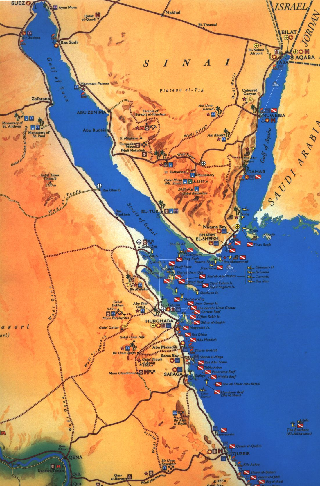 Red sea egypt detailed towncity map free download red gumiabroncs Choice Image