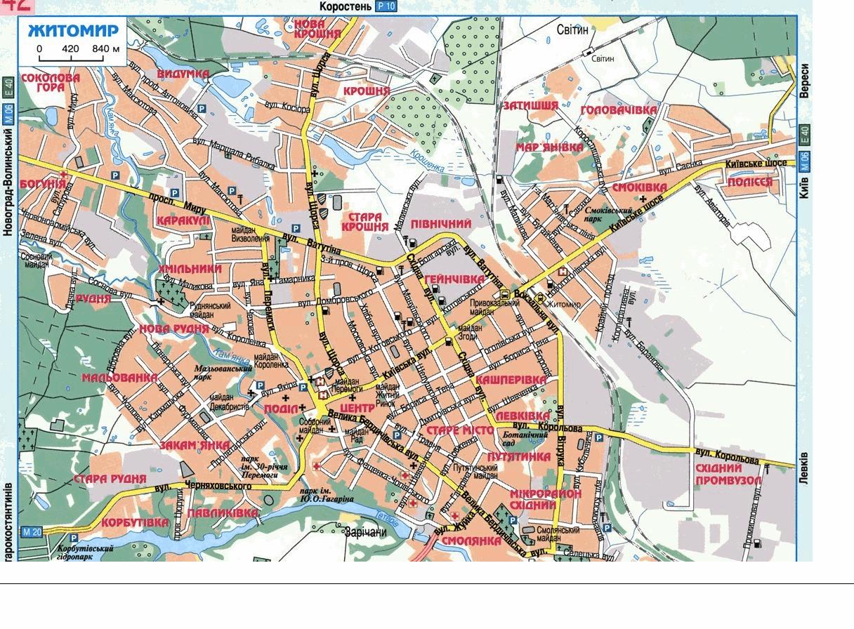 Житомир, Украина - Детальная карта, схема, план с улицами ...: http://karta.putivnyk.com/map.php?lang=ru&ind=Zhytomyr
